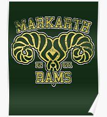 Markarth Rams - Skyrim - Football Jersey Poster