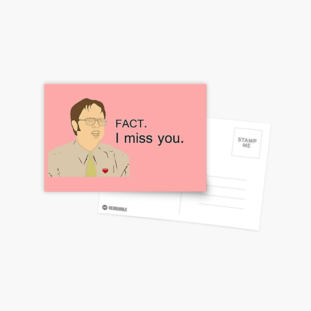 FACT. I miss you.  - Custom for Camila Postcard