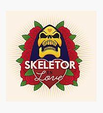 Skeletor is Love Photographic Print