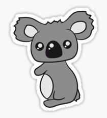 sweet little cute koala holds on Sticker