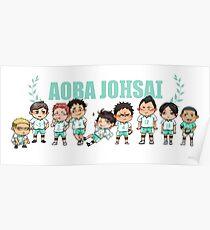 Póster Aoba Johsai chibis