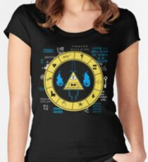 Gravity Falls - Bill Cipher Zodiac Women's Fitted Scoop T-Shirt