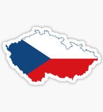 Flag Map of Czech Republic Sticker