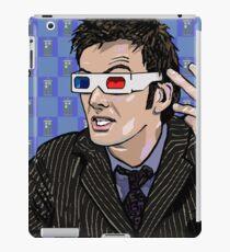 Tardis Tennant ThreeDee Ten iPad Case/Skin