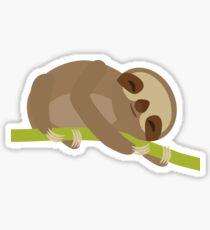 Sloth on a bench Sticker