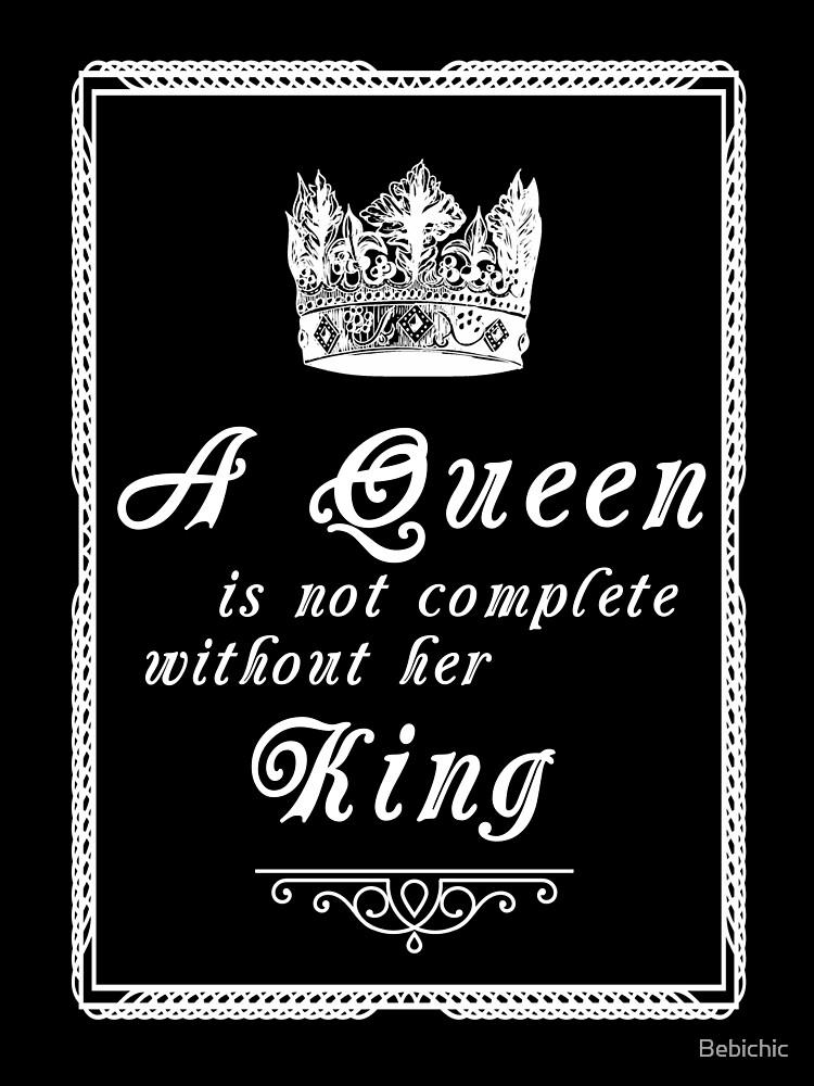 Queen Quote Love Couple Relationship BAE boyfriend | Baby One-Piece