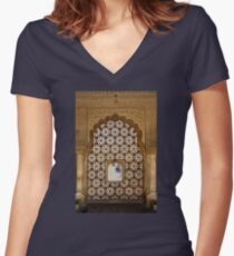 Amber Viewport Women's Fitted V-Neck T-Shirt