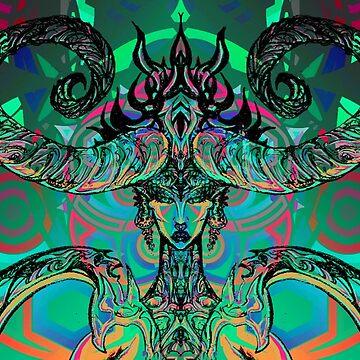 Neon Demoness by Tiduk
