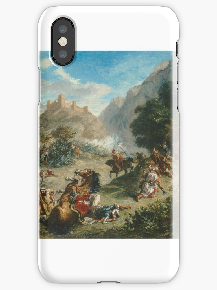 Eugène Delacroix - Arabs Skirmishing in the Mountains  by MotionAge Media