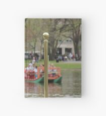 Boston Public Garden Swan Boats Hardcover Journal