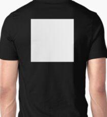 WHITE SQUARE, tabula rasa, on BLACK, Blank, Vacant, Clear, empty Unisex T-Shirt