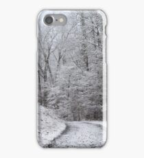 Around the Bend (snow scene in the mountains) iPhone Case/Skin