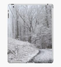 Around the Bend (snow scene in the mountains) iPad Case/Skin