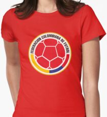 Federacion Colombiana de futebol - colombian soccer Women's Fitted T-Shirt