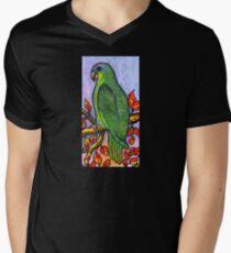 Blue - Fronted Parrot Mens V-Neck T-Shirt