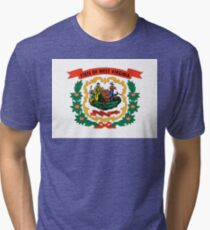West Virginia state coat of arms Tri-blend T-Shirt