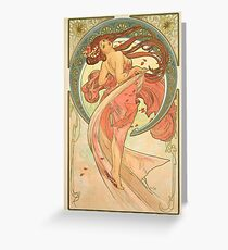 Alphonse Mucha - Dance Greeting Card