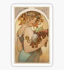 Alphonse Mucha - Fruit  Sticker