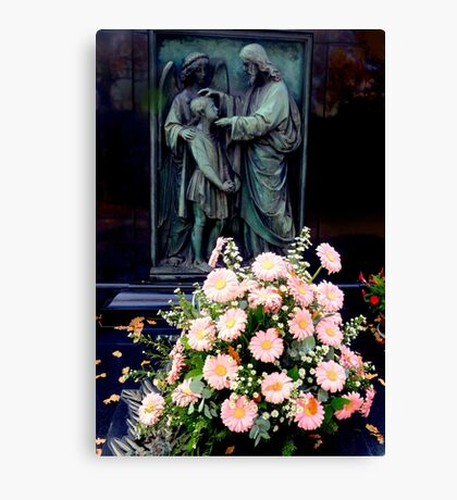 Daisies on a grave Canvas Print