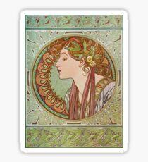 Alphonse Mucha - Laurel  Sticker