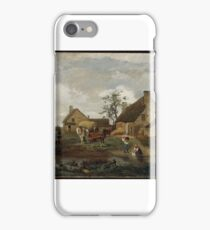 Farm at Recouvrières, Nièvre  Jean-Baptiste-Camille Corot (French,  iPhone Case/Skin