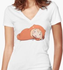 """Hey Sexy"" Umaru Women's Fitted V-Neck T-Shirt"