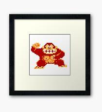8-Bit Donkey Kong Framed Print