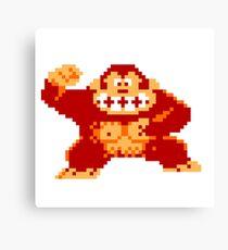 8-Bit Donkey Kong Canvas Print