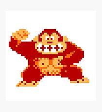 8-Bit Donkey Kong Photographic Print