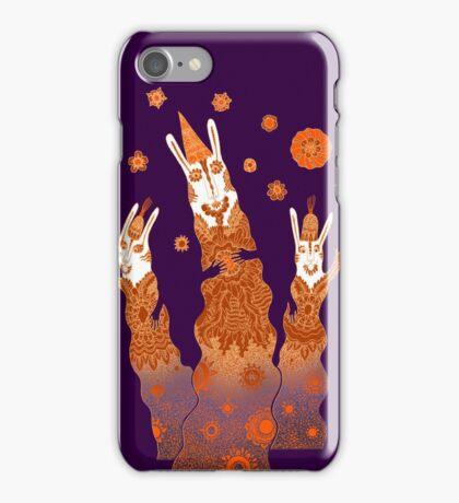 Psychedelic Rabbit Wizards  iPhone Case/Skin