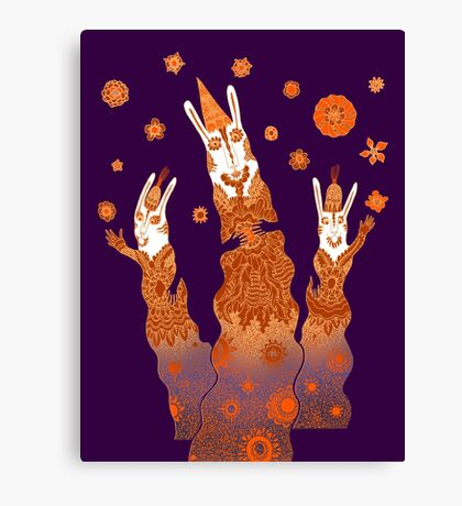Psychedelic Rabbit Wizards  Canvas Print