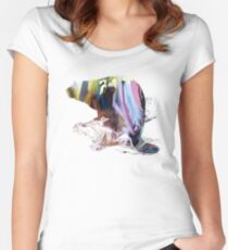 beaver art Women's Fitted Scoop T-Shirt