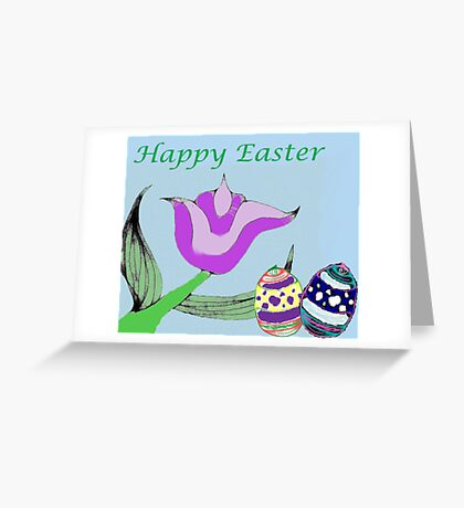 Tulip Easter Greeting Card