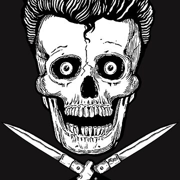 Rockabilly Skull and Switchblades  by ZugArt