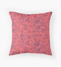 Popculture & Food Pattern Throw Pillow
