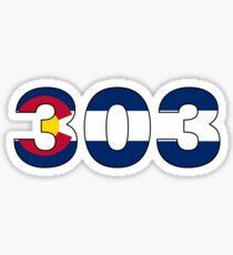 Colorado flag 303 area code  Sticker