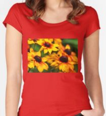 Summerina Yellow Women's Fitted Scoop T-Shirt