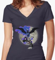 The Might Shall Last Forever Women's Fitted V-Neck T-Shirt