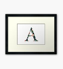 Alpha Floral Greek Letter Framed Print