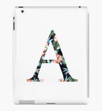 Alpha Floral Greek Letter iPad Case/Skin