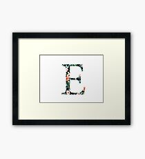 Epsilon Floral Greek Letter Design Framed Print