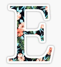 Epsilon Floral Greek Letter Design Sticker