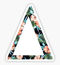 Delta Floral Greek Letter Sticker