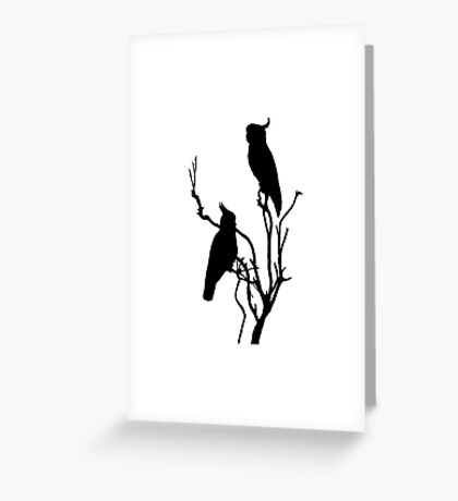 Wild Cockatoos Greeting Card