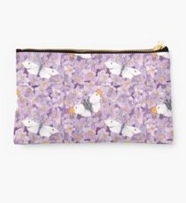 Orange Tip Butterflies on Lavender Flowers Studio Pouch