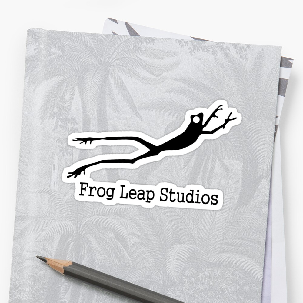 Frog leap studios stickers by wittty redbubble for Frog studio