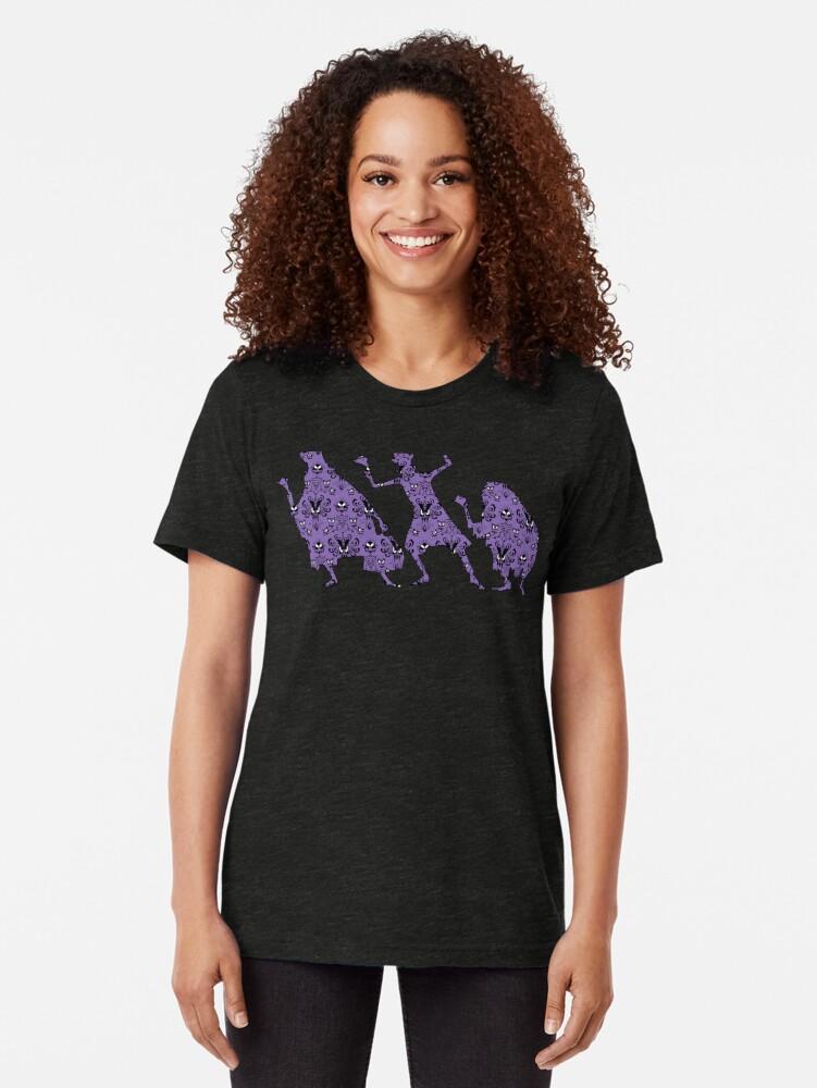 Alternate view of 999 Happy Haunts Tri-blend T-Shirt