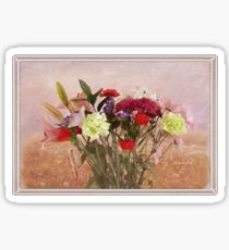 Bouquet in a Window ~ Painting Style Sticker