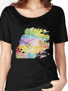 Rainbow Totoro  Women's Relaxed Fit T-Shirt