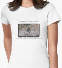 Mitch Hedberg Bigfoot Women's Fitted T-Shirt